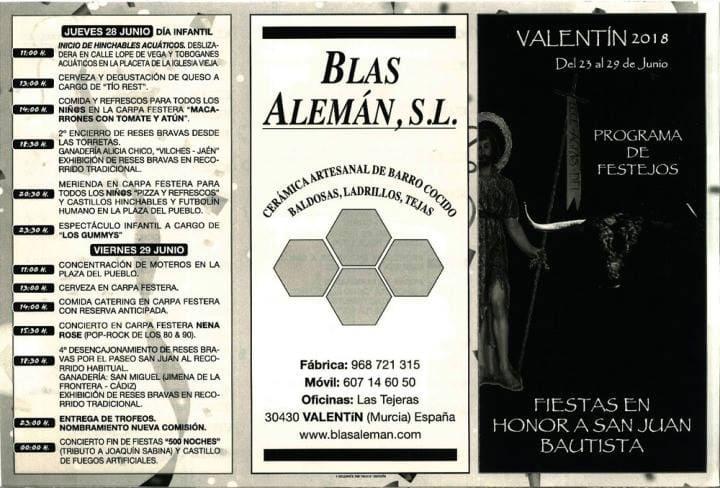 Cartel Fiestas Valentín