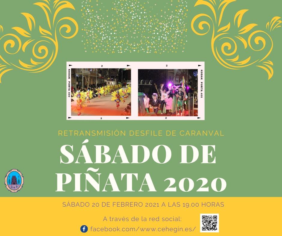Retransmisión en directo Sábado de Piñata Carnaval 2020
